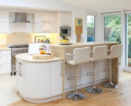 High Gloss Cream Kitchen