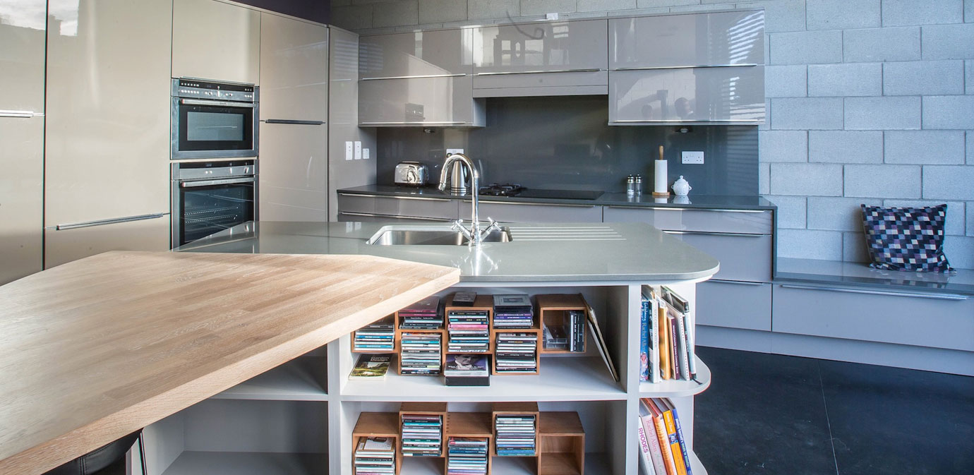 High Gloss Horizon Kitchen - Nolan Kitchens