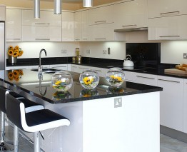 High Gloss Ivory Kitchen